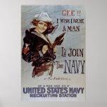 Únase al poster del reclutamiento de la marina de