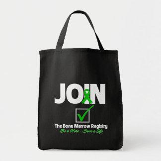 Únase al registro de la médula - ahorre una vida bolsa tela para la compra