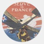 """Únase al servicio aéreo"" circa 1917 Etiquetas"