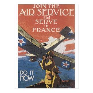 """Únase al servicio aéreo"" circa 1917 Tarjeta Postal"