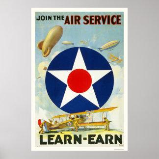 Únase al servicio aéreo impresiones