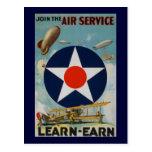 Únase al servicio aéreo postal