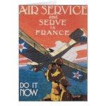 Únase al servicio aéreo tarjetas