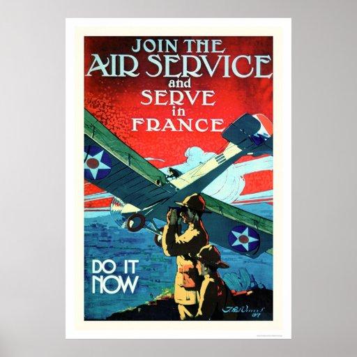 Únase al servicio aéreo y sirva en Francia (US0205 Póster
