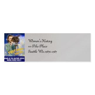 Únase al servicio del tiempo tarjetas de visita mini