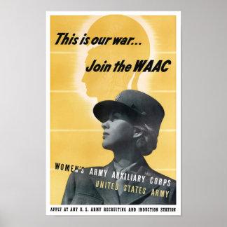 Únase al WAAC -- WWII Posters