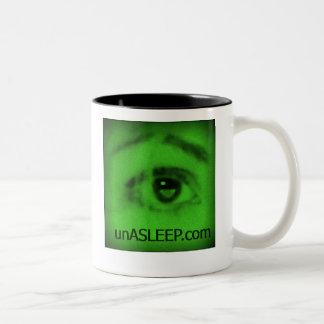 unASLEEP Eye-Con Coffee Mug, black, night Two-Tone Coffee Mug