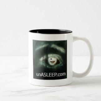 unASLEEP Eye-Con Coffee Mug, Black Two-Tone Coffee Mug