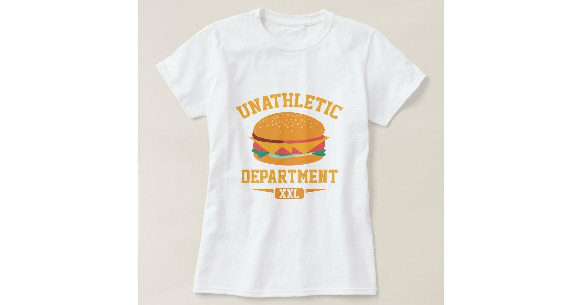 unathletic department t shirt zazzle