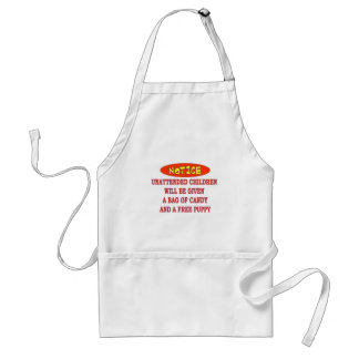UNATTENDED CHILDREN ADULT APRON
