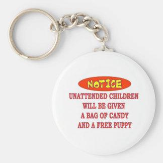 UNATTENDED CHILDREN KEYCHAIN