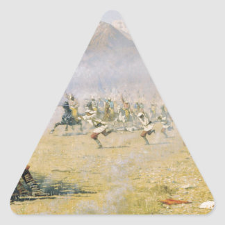 Unawares attack by Vasily Vereshchagin Triangle Sticker