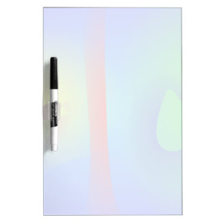 Unbalance Blue Abstract Dry Erase Board
