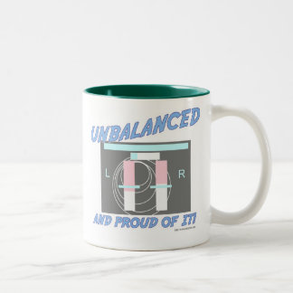 Unbalanced and Proud of it! Two-Tone Coffee Mug
