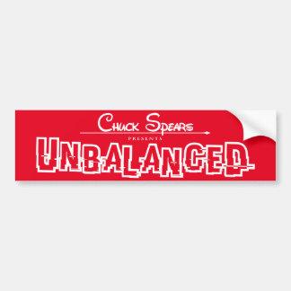 Unbalanced White Logo Red Sticker