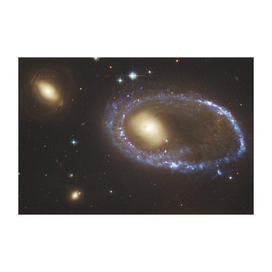 Unbarred Lenticular Ring Galaxy AM 0644-741 Canvas Print