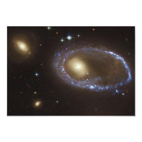 Unbarred Lenticular Ring Galaxy AM 0644-741 Card
