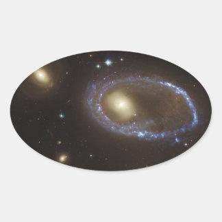 Unbarred Lenticular Ring Galaxy AM 0644-741 Oval Sticker