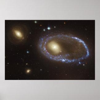 Unbarred Lenticular Ring Galaxy AM 0644-741 Poster