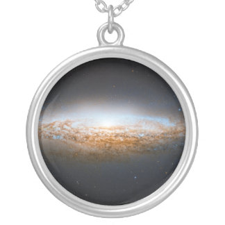 Unbarred Spiral Galaxy UFO Galaxy NGC 2683 Silver Plated Necklace