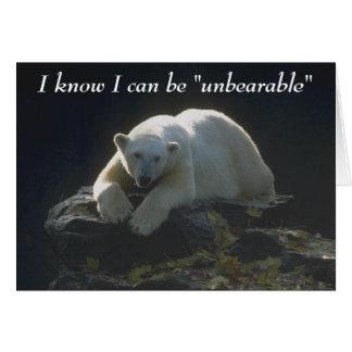 Unbearable 2 greeting card