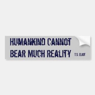 Unbearable Car Bumper Sticker