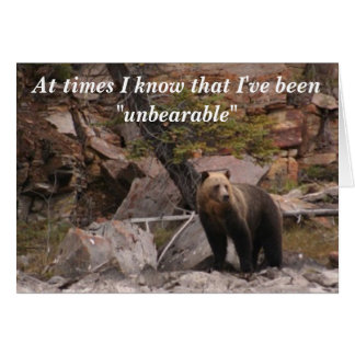 Unbearable Card