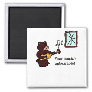 Unbearable Music Guitar Bear Magnet