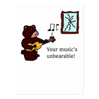 Unbearable Music Guitar Bear.png Post Card