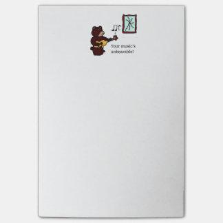 Unbearable Music Guitar Bear Post-it® Notes
