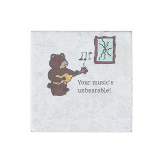 Unbearable Music Guitar Bear Stone Magnet