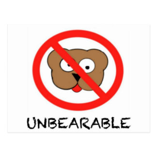 Unbearable Postcard