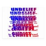 Unbelief v Faith Postcard