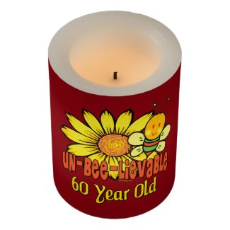 Unbelievable 60th Birthday Gift Flameless Candle