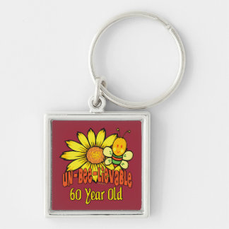 Unbelievable 60th Birthday Gifts Silver-Colored Square Keychain