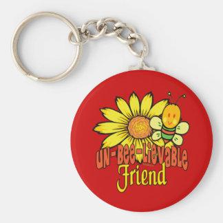 Unbelievable Best Friend Basic Round Button Keychain