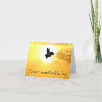unbelievable day -flying pig notecard