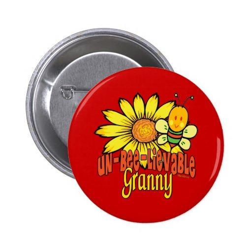 Unbelievable Granny 2 Inch Round Button