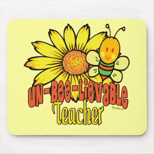 Unbelievable Teacher with Sunflowers and Bees Mouse Pad