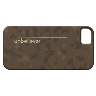 Unbeliever (tan on brown) iPhone SE/5/5s case