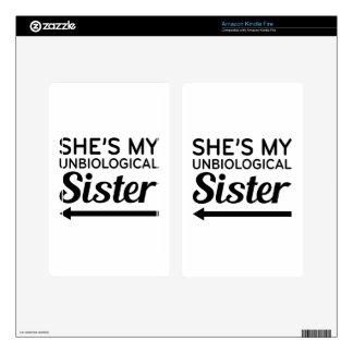 Unbiological Sister 2 Kindle Fire Skin
