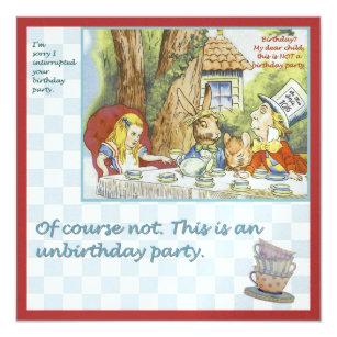 Unbirthday Invitations Zazzle