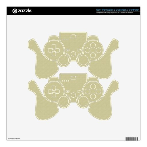 Unbleached Cloth Skin for Play Station 3 Control Decal For PS3 Controller