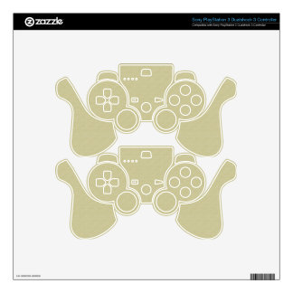 Unbleached Cloth Skin for Play Station 3 Control PS3 Controller Decal