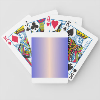 Unbleached Silk and Palatinate Blue Gradient Playing Cards
