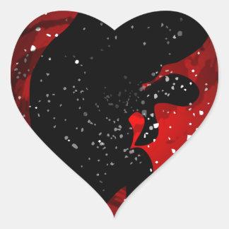 Unborn Baby SIlhouette Heart Sticker