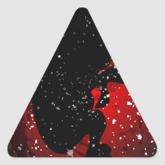 Unborn Baby SIlhouette Triangle Sticker