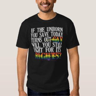 Unborn Gay Rights Dark Shirt