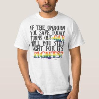 Unborn Gay Rights Light Shirt