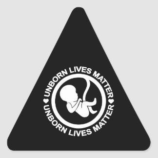 Unborn Lives Matter Triangle Sticker
